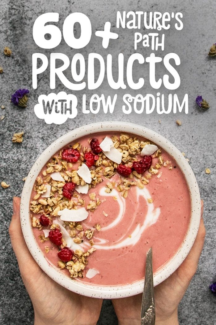 If you're looking to reduce your sodium intake, you've come to the right place. Here is our list of 60+ Nature's Path products containing low sodium.