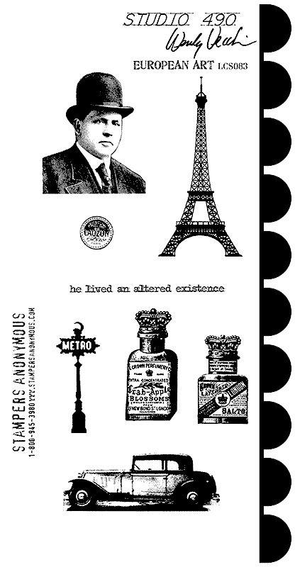 Studio 490 Stamps - European Art