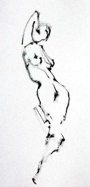 So simple yet you can see the gesture  20091026_Sylvia_LDoD_0001 by r0sejam, via Flickr