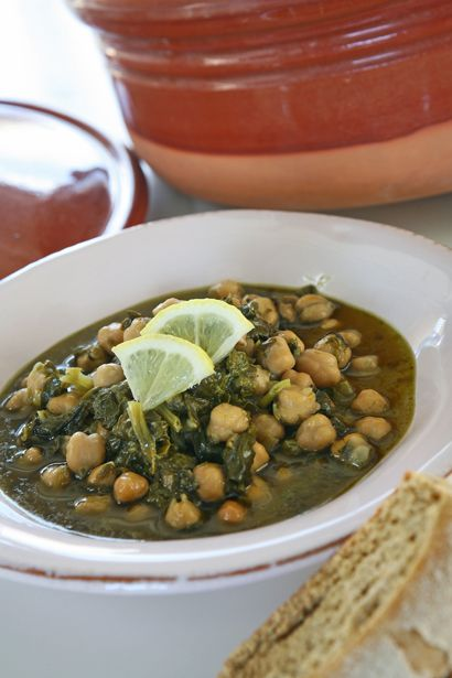 συνταγή ρεβύθια με σπανάκι