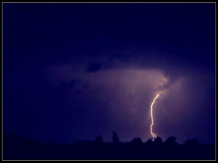 Lightning captured on a mobile phone. UK  http://www.kirley.co.uk