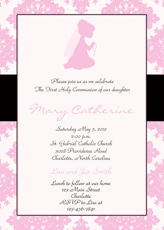 invitation for first communion