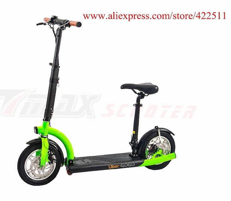 509.99$  Buy now - http://alijc7.worldwells.pw/go.php?t=32695148512 - 2016 Brand New 300W 36V Hub-motor Electric Scooter 10.4Ah Lithium Battery 2 Wheel Electric Scooter with Seat 509.99$