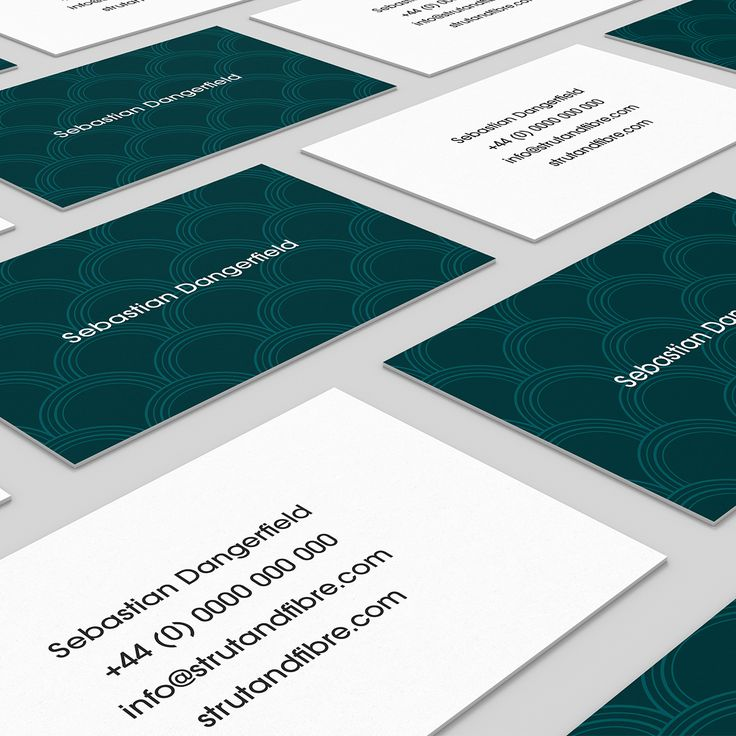Dangerfield – one of our Pattern business card templates available to customise and order on our site.