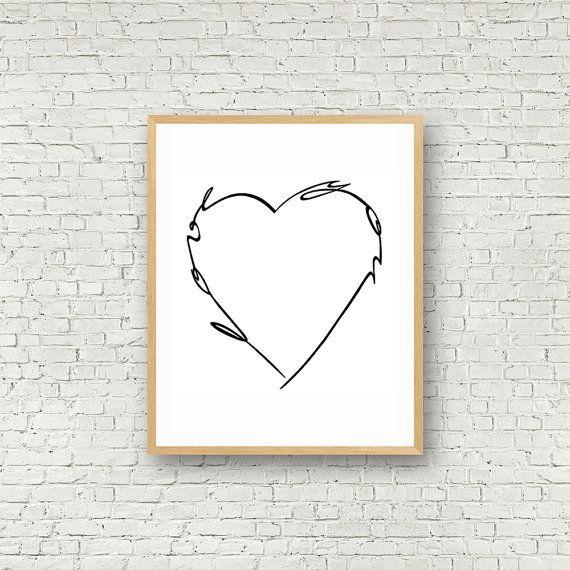Love Wall Art Noir et Blanc Digital Art Love You par MamzelleJules