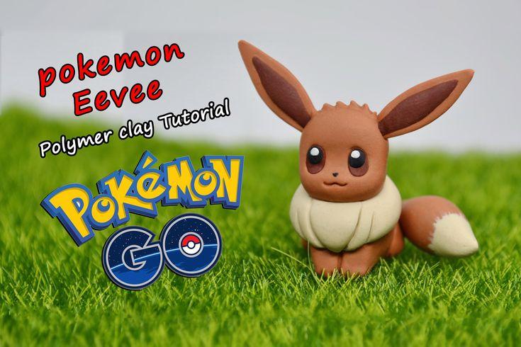 How to make pokemon Eevee ✿ Polymer clay Tutorial (fimo) ✿ Irina Ivanits...