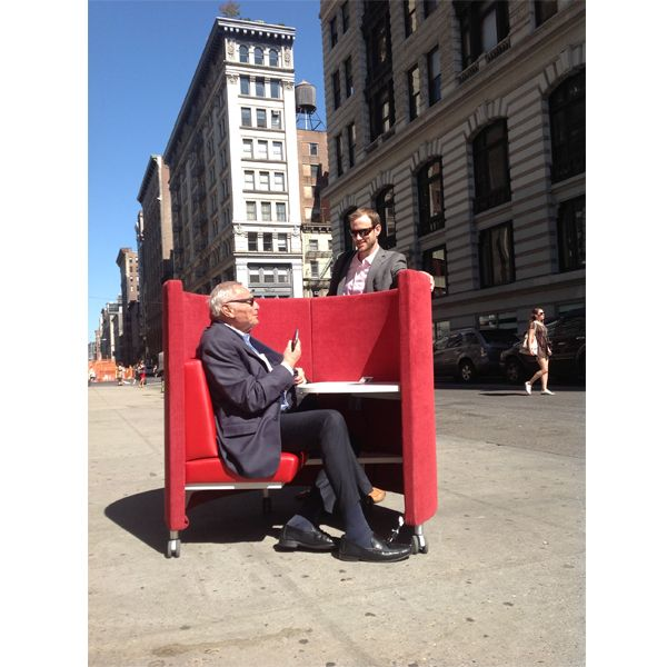 Jack Wiesel and Tim Connolly of Modern Office Systems look like they had a great time taking The POD around NYC!