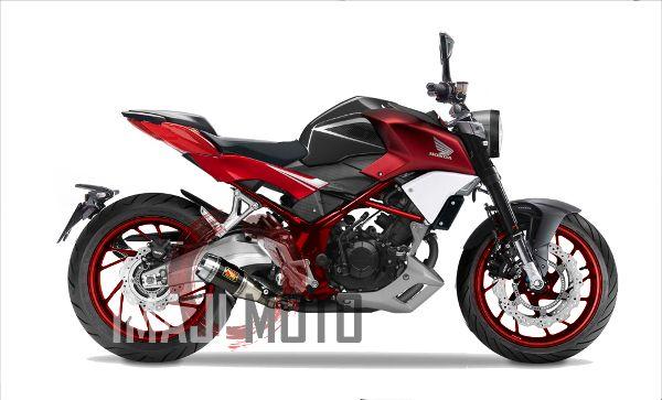 Modifikasi Honda CB150R Naked Ala CB4