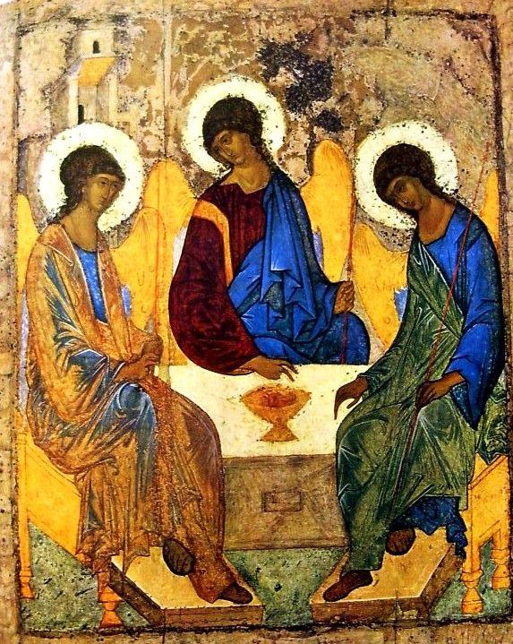 Rubljov, Andrej (1370 k.-1430): Szentháromság, 1430 előtt (Moszkva, Tretyakov Képtár)