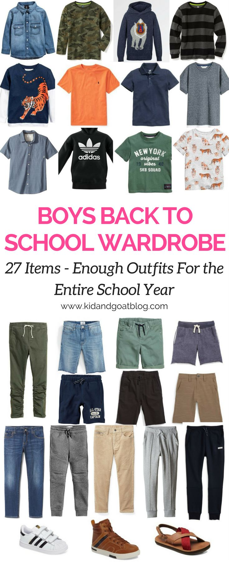 Boys Back to School Outfits – 27 Piece Wardrobe For the Year