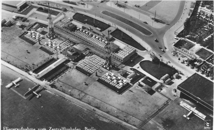 Bundesarchiv Bild 146-1998-041-09, Berlin, Zentralflughafen, Luftaufnahme - Flughafen Berlin-Tempelhof –1928