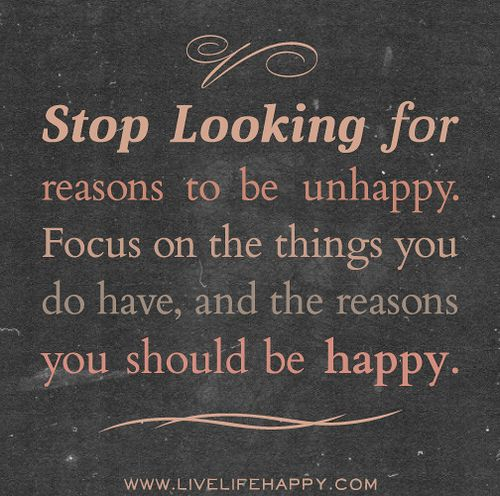 Stop Looking For Reasons