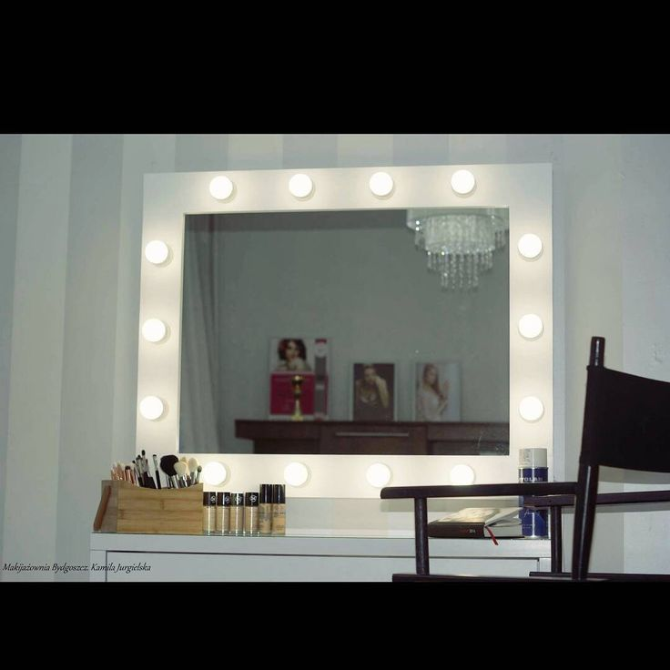 Makeup light mirror 60x80cm witd LED bulbs by ZAP project