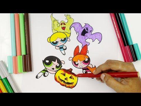 Coloring powerpuff girls Halloween Coloring Pages, Halloween coloring for kids, PPGZ Coloring - YouTube