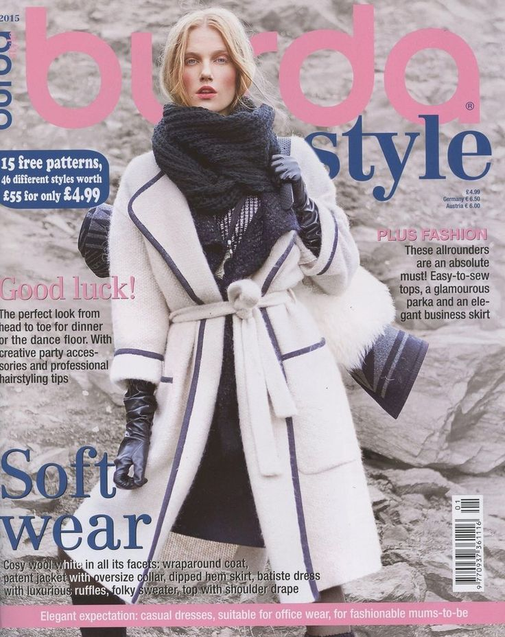 Burda Style Magazine 1 2015 Fashion Sewing Soft Wear