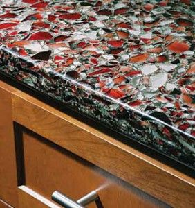 Wonderful Love The Black/red Contrast In This. Is Recycled Glass Countertop  Installation A DIY