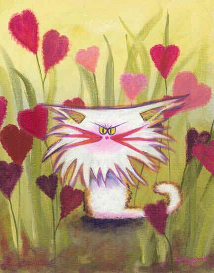 Valentine's Cranky Cat
