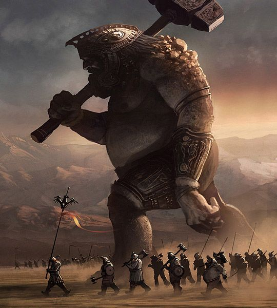 Massive Hill Giant. I want him in my party!!