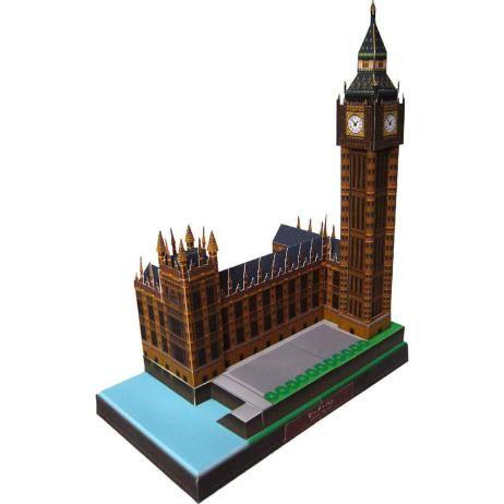 Verenigd Koninkrijk Big Ben, de bouw, papier ambachtelijke, Europa, het Verenigd Koninkrijk, de wereld erfgoed, de bouw, de klokkentoren, het Britse parlement