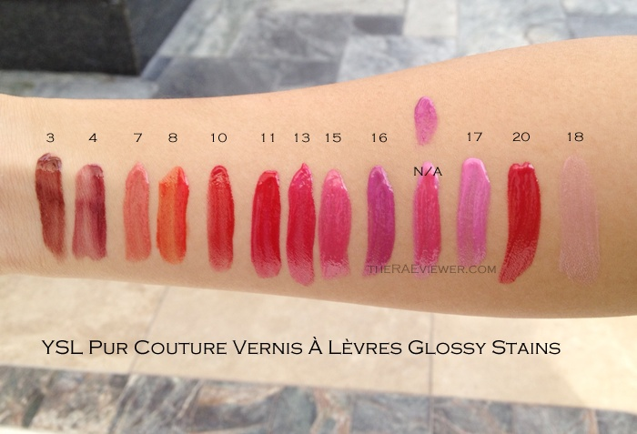 Ysl Glossy Stain Swatches Hit List Pinterest Stains