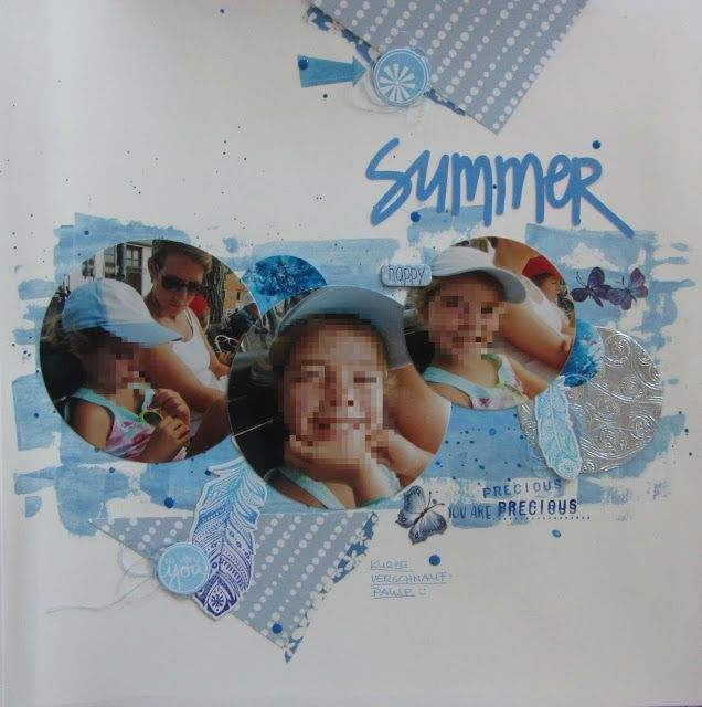 Summer #scrapourstash #thestudiochallenges #lastingmemories #scrapping4fun