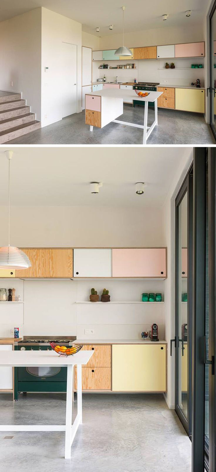 Kitchen Design Idea - Cabinet Hardware Alternatives // Cut Outs -- Cut outs can be done in a number of different ways to create various looks on the front of your cabinets. You can go with small finger holes, square openings or get artistic and create a unique design like stars.