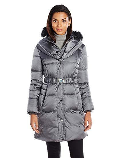 7d760390c7f New Guess Women s Satin Metallic Polyfill Puffer Coat online   187.08   alltrendytop