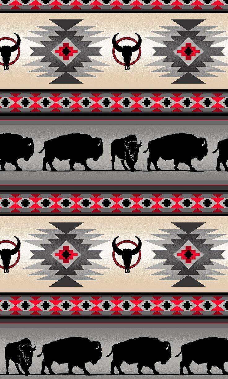 Grey Buffalo Stripe 15yds 100 Cotton 44 45in Native