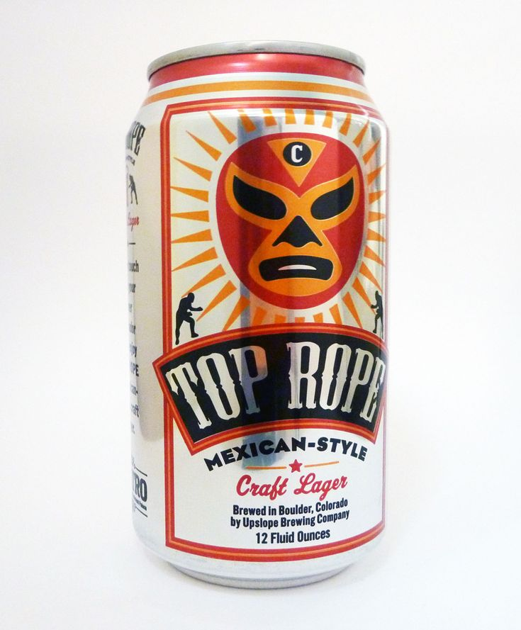 "Designed by John Carlson Design | Country: United States  ""Beer can design for Top Rope Mexican-Style Craft Lager. Produced by Upslope Brewery in Boulder, Colorado for Centro Latin Kitchen & Refreshment Palace, also located in Boulder"
