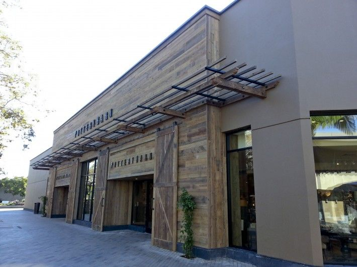 Pottery barn storefront google search building ideas for Modern retail building design