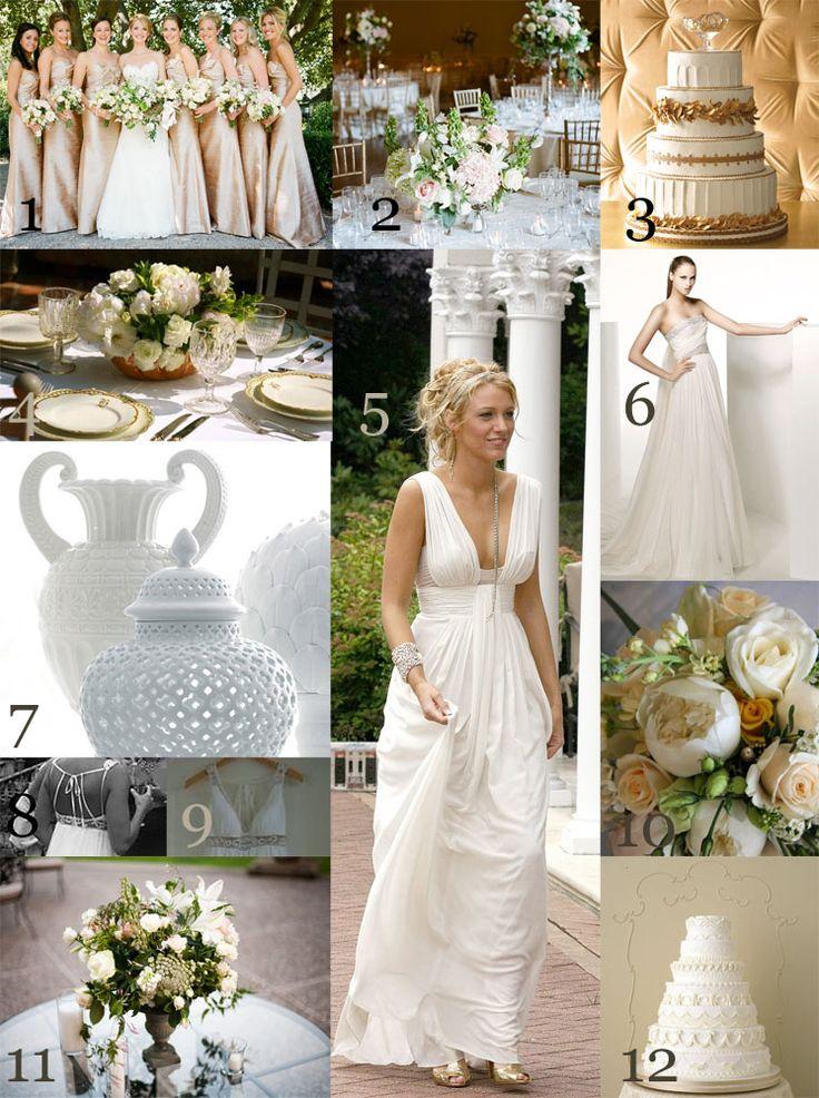 The Very Indecisive Bride Golden Greek Goddess Grecian Wedding Wedding Dress Grecian Goddesses Greek Wedding Theme