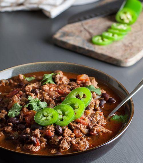 Spicy Black Bean Turkey Chili Recipe From 'No Gojis, No Glory'