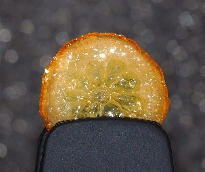 Candied lemon slices, rind, peel, skin, ButterYum