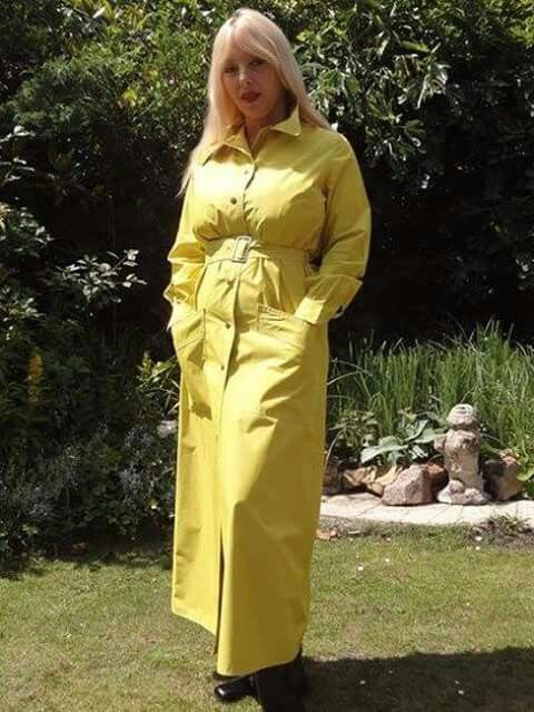 Rubber lined raincoat