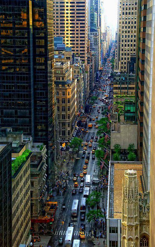 Looking Down Fifth Avenue, Manhattan, New York City