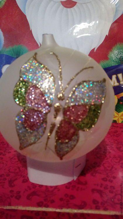 Шар стеклянный Бабочка