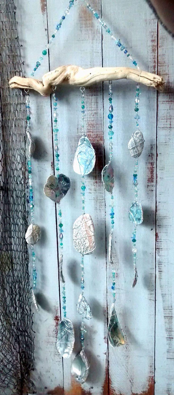 Driftwood abalone art