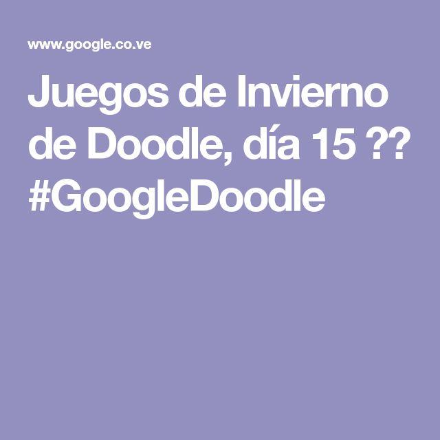 Juegos de Invierno de Doodle, día 15 ❄️ #GoogleDoodle