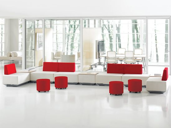 The Collaborative Ottoman provides casual seating for lounge environments or workstation applications.