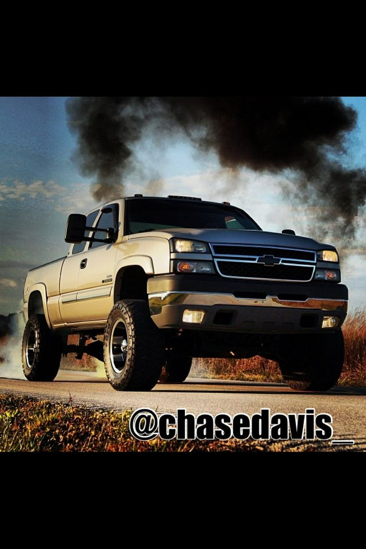 Chevy duramax lifted with stacks rollin coal