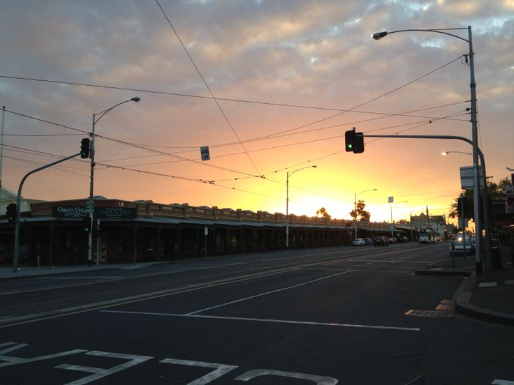 Queen Victoria Market, Melbourne sunset.
