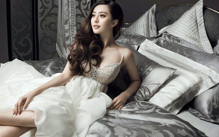 Lataa kuva Fan Bingbing, kauneus, kiinan näyttelijä, aasialainen nainen, ruskeaverikkö