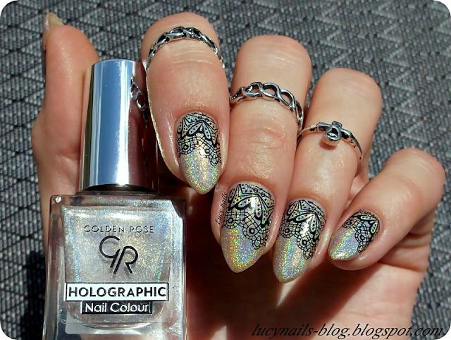GOLDEN ROSE Holographic Nail Colour nr 02