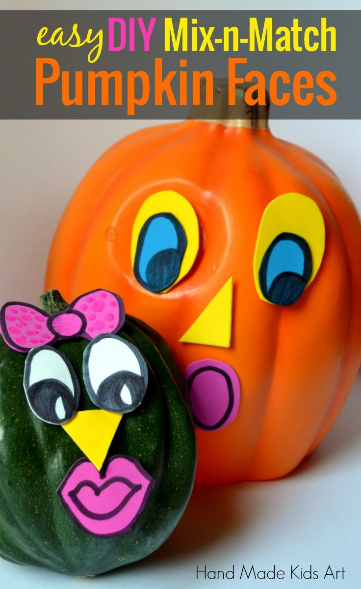 Diy mix n match pumpkin faces crafts dark and nancy for Surprised pumpkin face