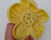 Large Yellow Daisy on Snap Clip Hair Accessory