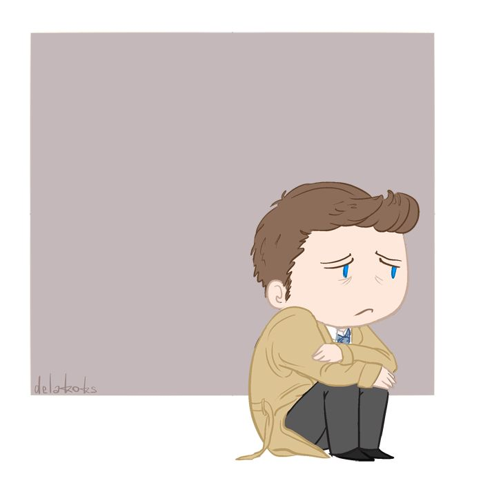 "delakoks: ""Chibi Destiel AnimatedMy headcanon for third episode of season 11 C: """
