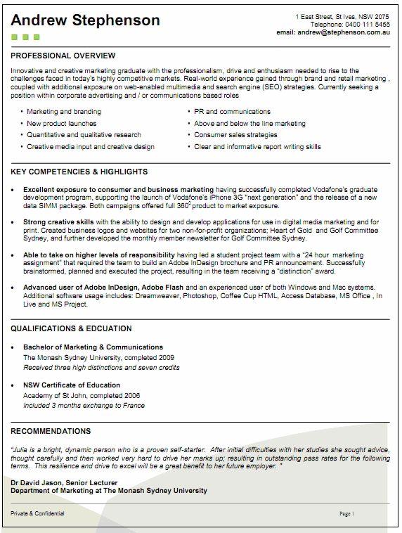 25+ melhores ideias de Resume template australia no Pinterest - resume templates australia