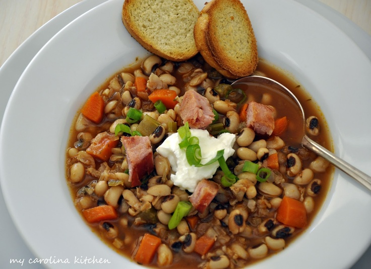 BlackEyed Pea Soup good luck food for the New Year