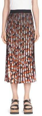 KENZO Pleated Floral Midi Skirt. Midi skirt fashions. I'm an affiliate marketer. When you click on a link or buy from the retailer, I earn a commission.