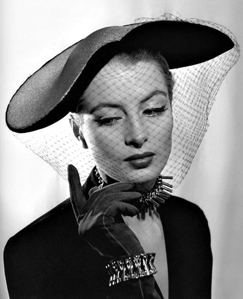 Fabulous 1950's Hat.    a lady with a cat via Catherine Fowler onto YOU CAN LEAVE YOUR HAT ON